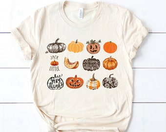 It's the Little Things | Fall Harvest Pumpkins Jack O Lantern | UNISEX Relaxed Jersey T-Shirt