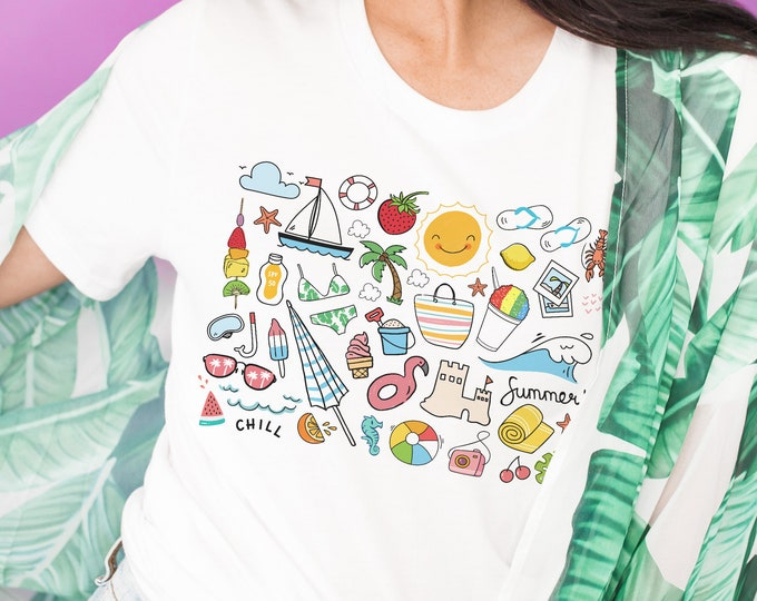 Featured listing image: It's the Little Things   Summer Nostalgia   UNISEX Relaxed Jersey T-Shirt for Women