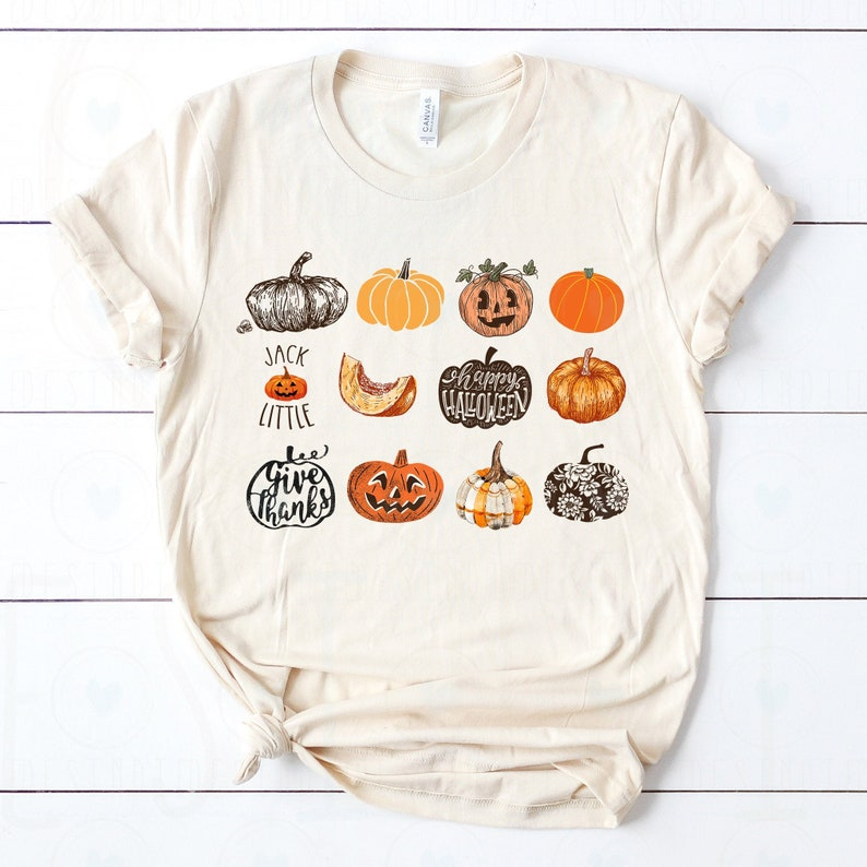 Soft Unisex Bella  It's the Little Things Pumpkins image 0