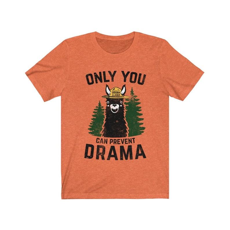 Drama Llama Heather Orange Custom Order Unisex Jersey Short image 0