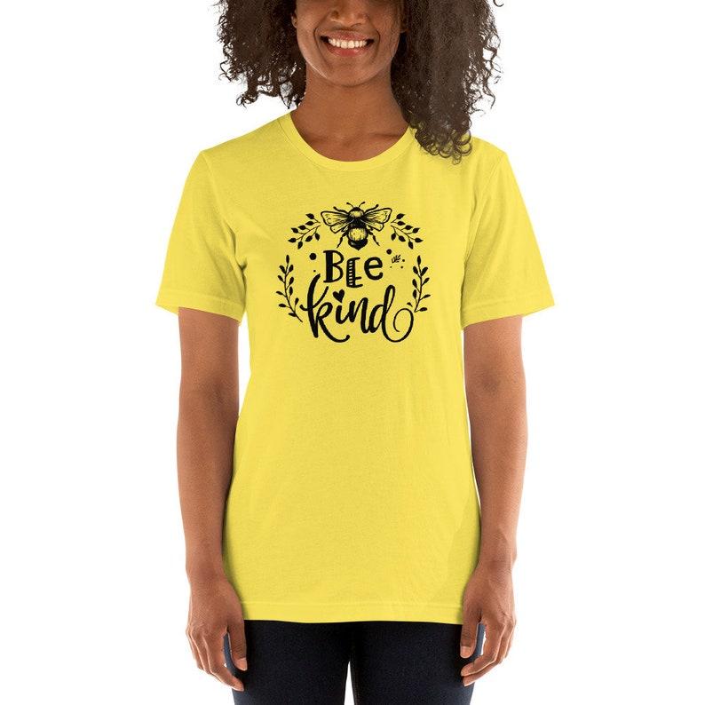 Bee Kind Wreath Soft Short-Sleeve Unisex T-Shirt image 0