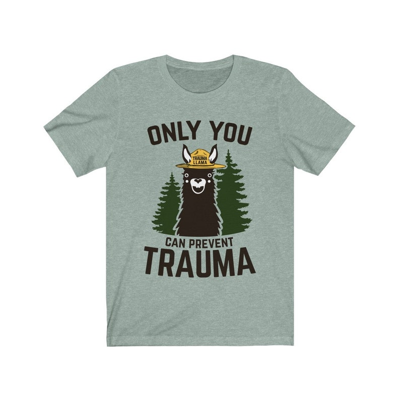 Only You Can Prevent Trauma Llama Smokey Parody Bear Super image 0