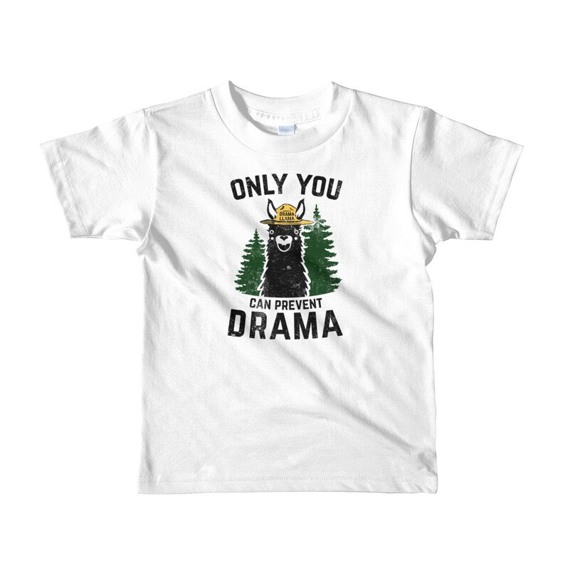 Llama Drama Only You can Prevent It Short sleeve kids t-shirt image 0