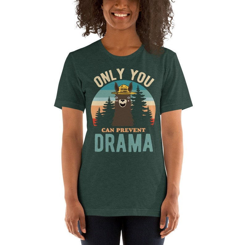 Soft Unisex Bella Only You Can Prevent Drama Llama Sunset image 0