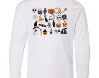 It's the Little Things   Happy Halloween   UNISEX Youth Fine Jersey Long Sleeve