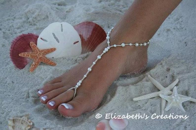 64f223f03be2 Barefoot Sandal Simply Elegant Wedding shoes Bridal Shoes