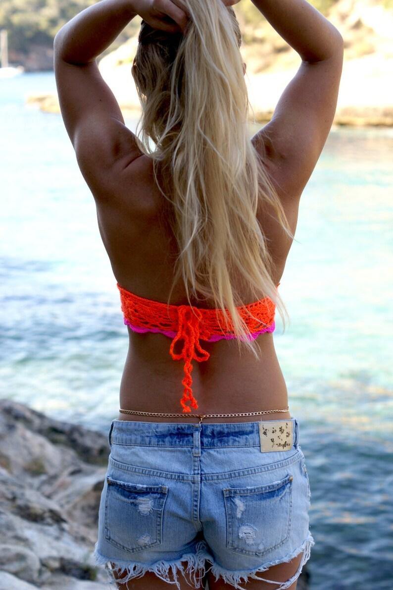 Tropical Vibes. Crochet Crop Top