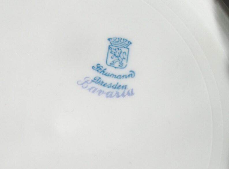 1918 Cuvette réticulée, Décoré à la main, Dresde Flowers.FREE SHIPPNG US. Wedding.Housewarming.Hostess, Anniversaire. Réduction sur Les Multiples