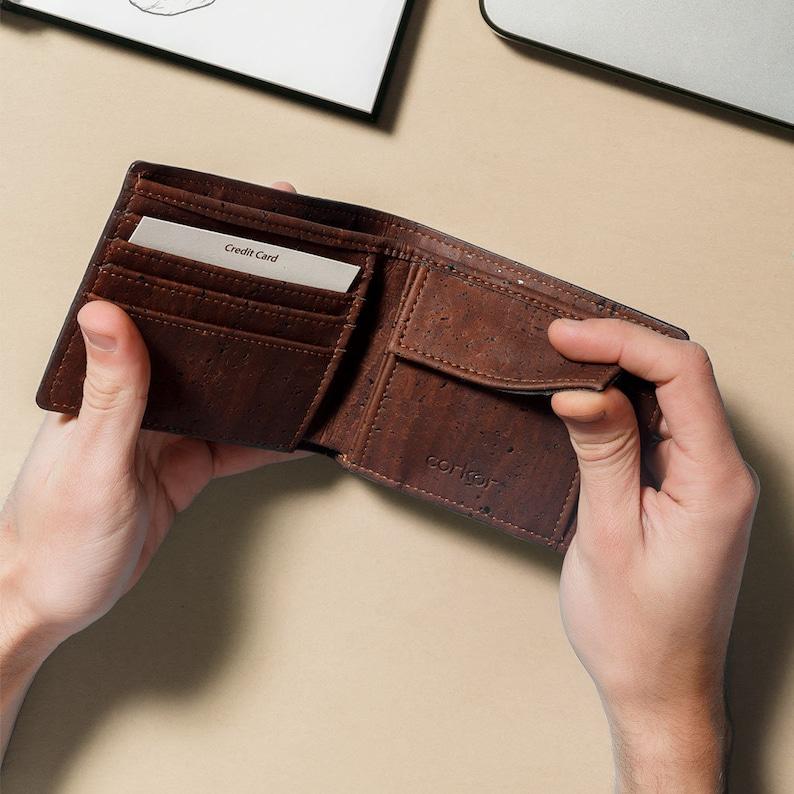 Corkor Vegan Wallet Coin Pouch RFID  Vegan Leather Wallets image 0