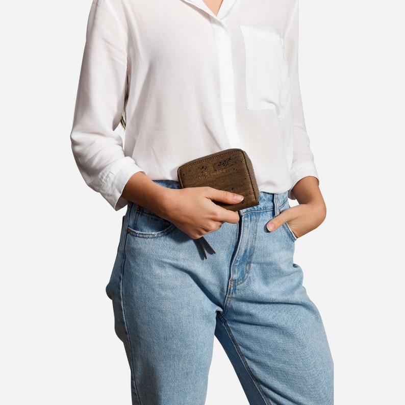 Women Wallet Vegan RFID Blocking Zip Around  Sustainable image 0