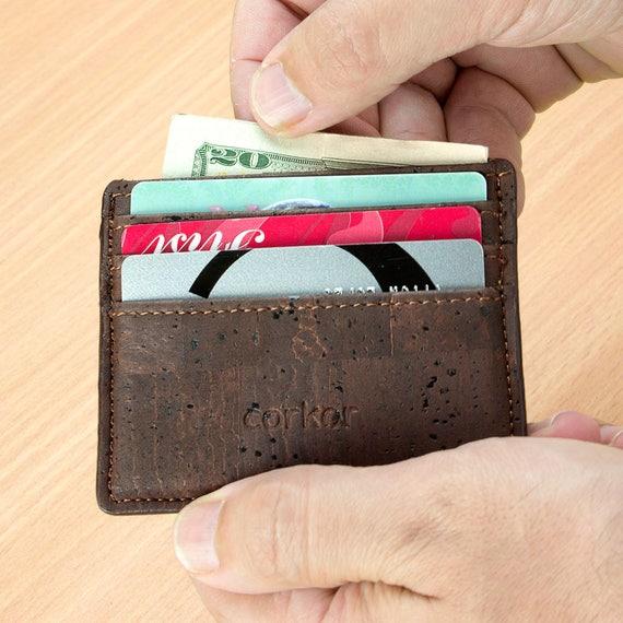Étui portefeuille RFID bloque porte monnaie Vegan durable   Etsy 973fbce2fb2