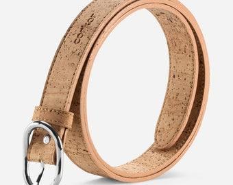 Vegan Belt Women Cork Belt Non Leather Durable Faux from Corkor (CK256)