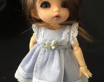 BJD Pukifee/ Lati yellow/ OOAK 16cm polymer clay doll dress and pants
