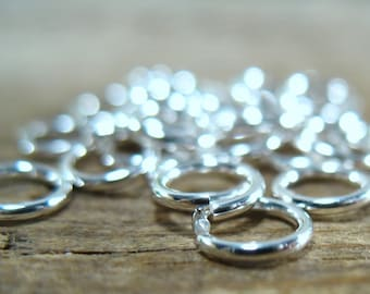 Jump Rings Sterling Silver 4mm 20g 25 pcs R1007 - Chain Maille Rings, Silver Jump Rings, 20 gauge Jump Rings, 4mm Jump Rings, Solder Jump
