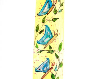 "Bookmark handmade drawing ""Butterflies""."