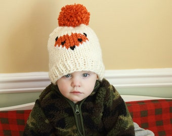 48b2f22f544 The Friendly Fox Beanie - Knitting Pattern Only - Knit Fox Beanie