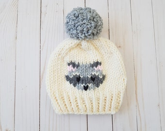 The Rascally Raccoon Beanie - KNITTING PATTERN ONLY beecb88d2af
