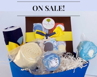 3e1fd00d064f The CUTEST Baby Gift Basket - Baby Boy Gift Basket