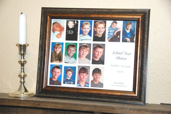 School Year Picture Frame MATS ONLY ~ 8x10 ~ Newborn-12th Grade from ...