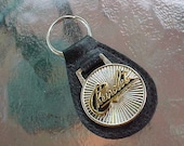 Classic Chevrolet Old School Script Collector Car Leather Key Fob Handcrafted in USA