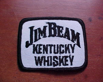 dc775881a42 1970s JIM BEAM Kentucky WHISKEY Patch New Old Stock Logo Mint Condition  Never Used Rare Baseball Hat Jacket Workshirt Hot Press or Sew On