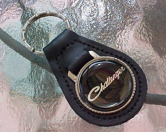 CHEVY TRUCK TRUCKS LEATHER KEYCHAIN KEY CHAIN RING FOB NEW #057 BLACK