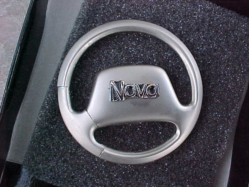 Chevrolet Chevy NOVA Metal Steering Wheel Key Ring Holder Custom Made Top  Quality Product Nicest Around World Class Comes Gift Boxed