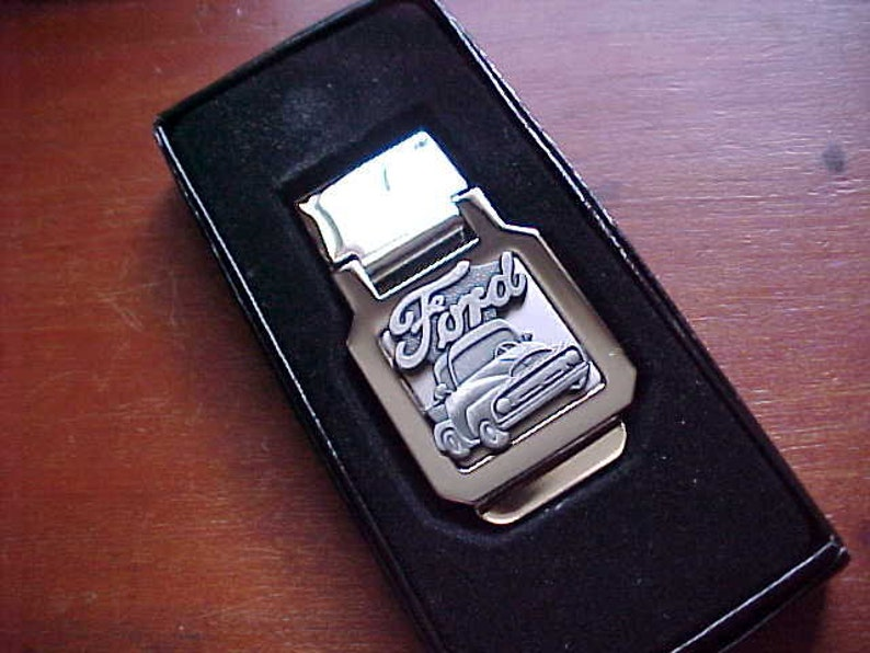 1956 Ford Pickup Truck Silver Chrome Stainless Steel Money Clip Handcrafted in USA Limited Production Hi-Quality Classic Flip Top Design