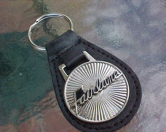 Classic Ford Fairlane Script High Class Collector Muscle Car Leather Key Fob Handcrafted in the USA Unique Scarce