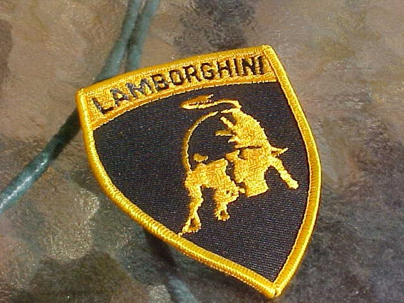 1970s Vintage Lamborghini Italian Sports Car Patch New Old Etsy
