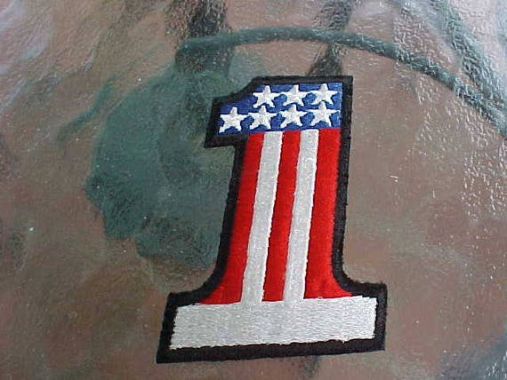 Vintage NOS Embroidered Patch American Flag Stars And Stripes USA Iron Sew On