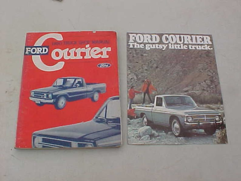 1980 Ford Courier Truck Shop Manual + 1976 Sales Catalog Cool Combination  for