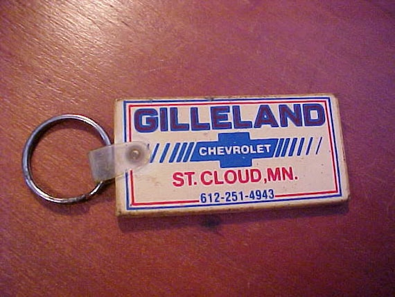 1980s Gilleland Chevrolet Bowtie Dealership Key Ring St Cloud Etsy