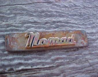 Chevy Chevrolet NOMAD Gold Script Emblem Rustic Metal Slug Handcrafted in USA Low Production Unique Creative Piece
