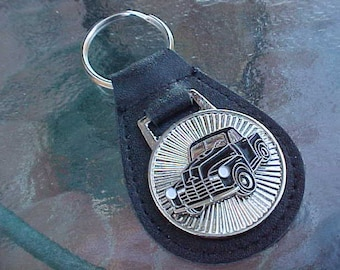 1948-1952 Chevrolet Black Truck Starburst Leather Key Fob Handcrafted in USA A Cool Classic Truck Collector's Item For Your Keys