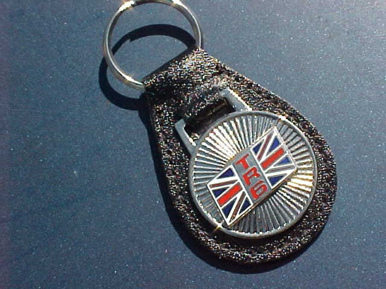 Classic Triumph Tr6 British Sports Car Collector Leather Key Etsy