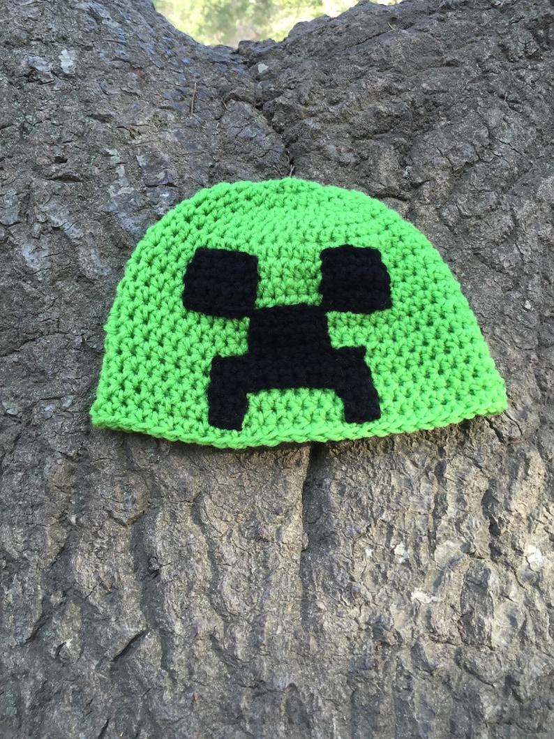 44b8b8db219 Minecraft inspired creeper beanie