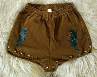 Boho Shorts - Size S - Festival Outfit, Hippie Shorts