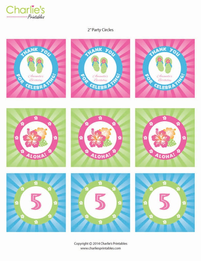 Luau Invitation Party Pack Self Editable Instant Download