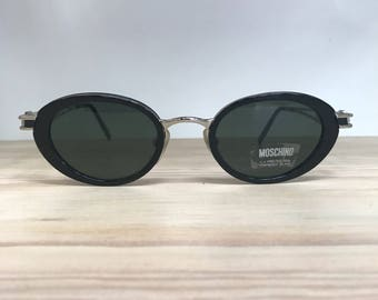 9332d03a34d Moschino MM3020-S black oval vintage sunglasses