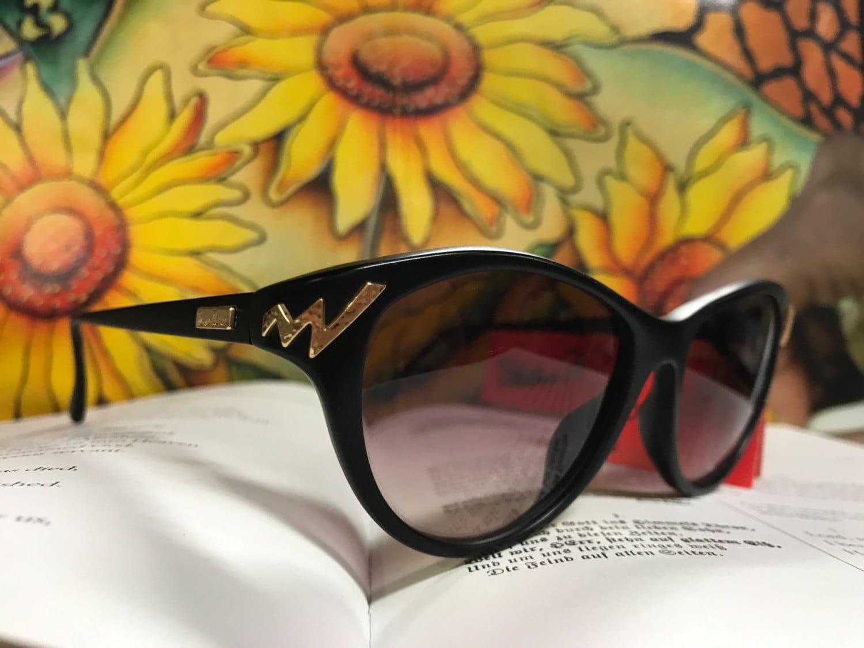 Paloma Picasso Vintage Sunglasses cat eyes black