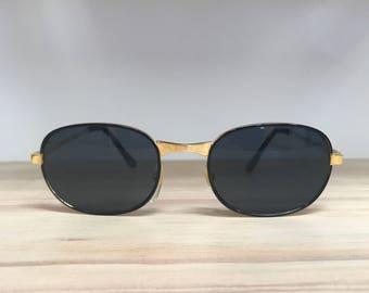 Oval vintage sunglasses black tortoise