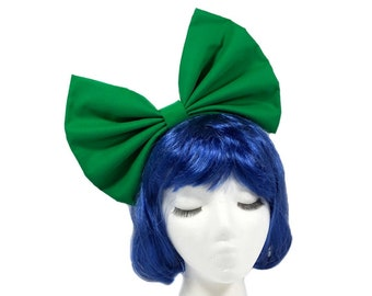 Green Bow Headband, Green Cosplay, Hair Bows For Women, Huge Bows, Costume Accessories, Bow Headband Women, Girl Bow, Large Bow Headband