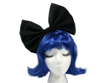 Black Headband For Women, Black Bow Headband, Costume Accessories, Cosplay Hair Bow, Hair Bow For Women, Bow Headband Women, Huge Bows