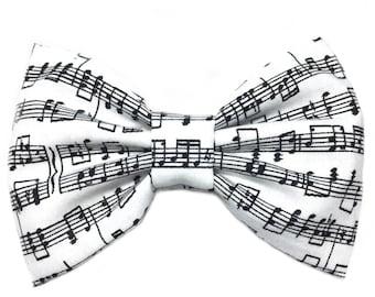 Music Notes Hair Bow