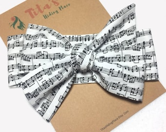 Music Notes Baby Headwrap