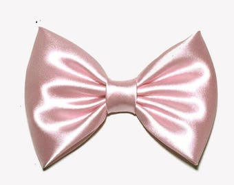 Light Pink Satin Hair Bow