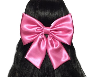 Bright Pink Hair Bow