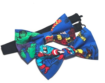 Blue Bow Tie, The Hulk or Captain America