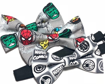Grey Bow Tie, Hulk, Spider man or Marvel Comics